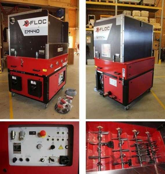 Używana maszyna do wdmuchiwania celulozy X-FLOC 440-400V/10,5kW ze zintegrowaną Zewnętrzną dmuchawą