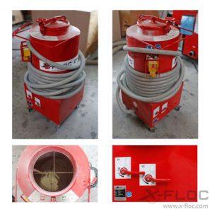 Używana maszyna do wdmuchiwania granulatu i regranulatu styropianowego X-FLOC EM90