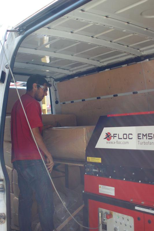 EM500 maszyna do wdmuchiwania X-FLOC