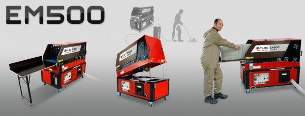 EM500 maszyna do wdmuchiwania z automatycznym podajnikiem materiału