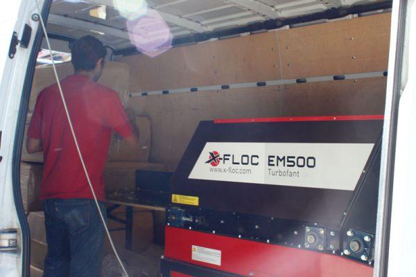 EM500 wydajna maszyna do wdmuchiwania X-FLOC z automatycznym podajnikiem materiału