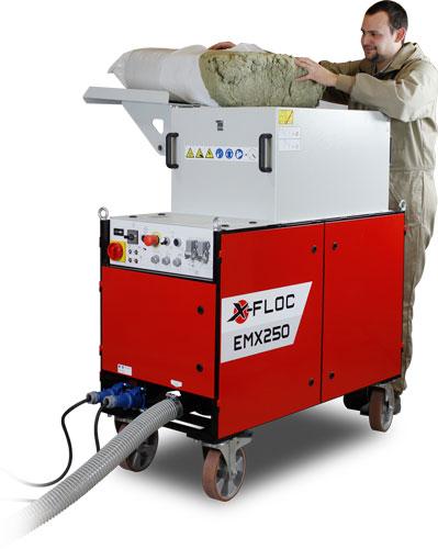 EMX250 X-FLOC maszyna do wdmuchiwania i natryskiwania izolacji