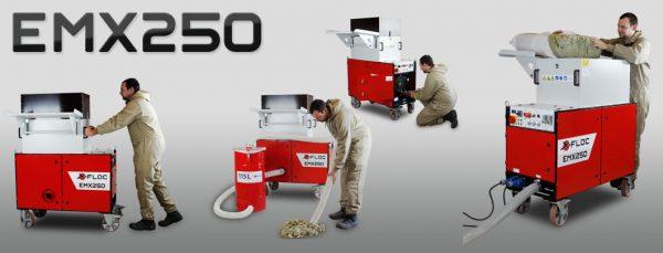 EMX250 maszyna do wdmuchiwania i natryskiwania izolacji X-FLOC