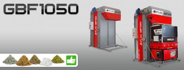 GBF1050 X-FLOC Komora technologiczna rozdrabnia i podaje do maszyny wdmuchującej skompresowany w Big-Bagi materiał izolacyjny