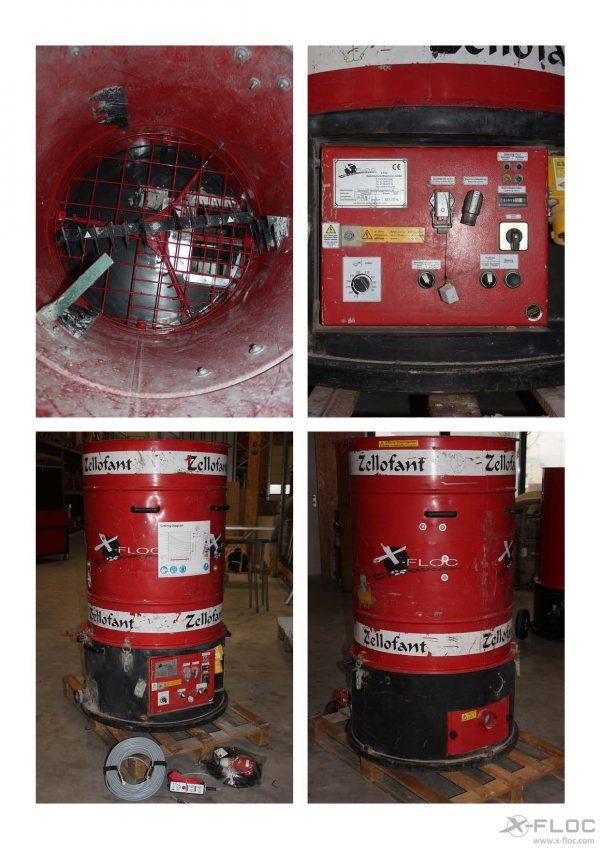 Używana maszyna wdmuchująca Zellofant M95 - 400V - 4,7 kW - M95F1148