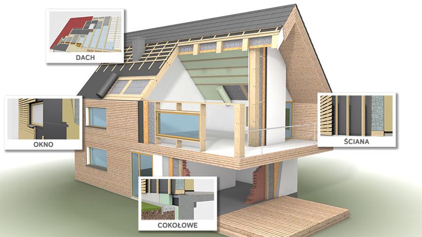 Jak osiągnąć szczelność powietrzną, gdy dom jest albo w całości w konstrukcji drewnianej albo murowany z drewnianym dachem